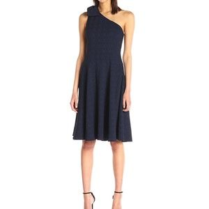 Nanette Lepore Textured One Shoulder Sheath Dress